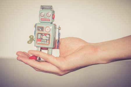 Symbol for a chatbot or social bot and algorithms Standard-Bild