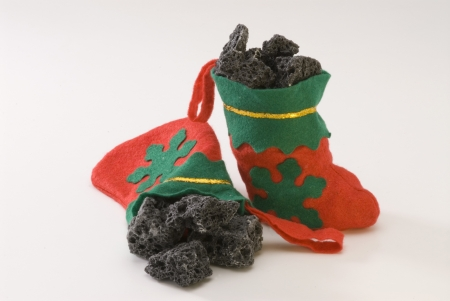 Sweet coal in Christmas stocking  Carbon de Reyes