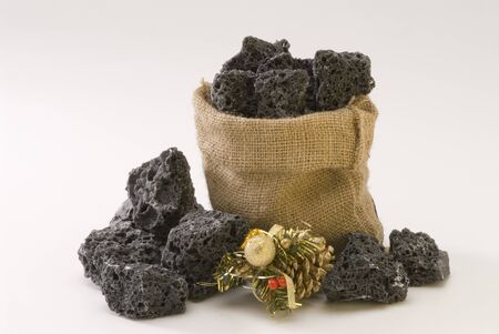 Sweet Christmas coal in a sack  Carbon de Reyes
