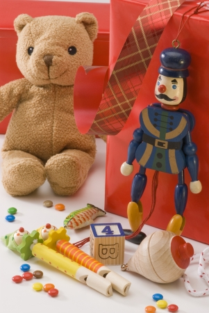 Teddy bear and  vintage toys