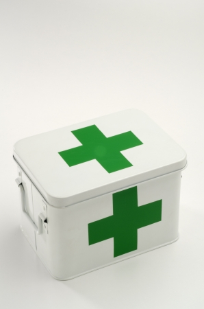 First aid box in white background