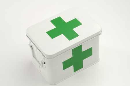 First aid box in white background Stock Photo - 18132822