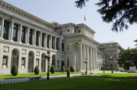 Exterior view of the Prado Museum  Madrid  Spain  Editorial
