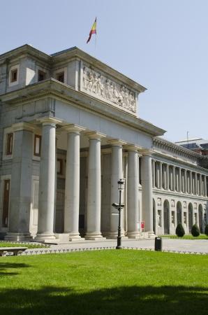 Exterior view of the Prado Museum  Madrid  Spain