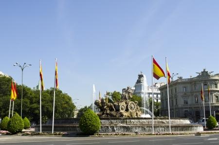 plaza de la cibeles: Fuente de Cibeles en la Plaza de la Cibeles, en el centro de Madrid. Editorial