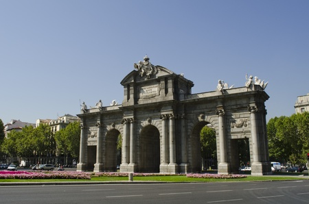 View of the Alcala Gate, Madrid, Spain  Puerta de Alcala