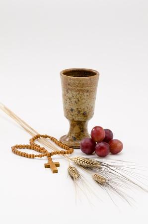 premi�re communion: Premi�re Sainte Communion composition sur fond blanc