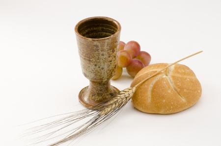 Erste heilige Kommunions-Zusammensetzung auf wei�em Hintergrund