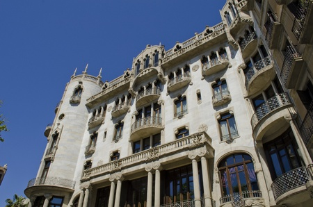 paseo: Fuster Building Casa Fuster  Built by Lluis Domenech i Montaner  Barcelona  Catalonia  Spain