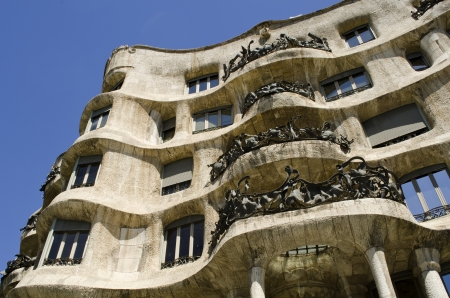 La Pedrera. Casa Mila. Built by Antoni Gaudi. Barcelona. Catalonia. Spain. photo