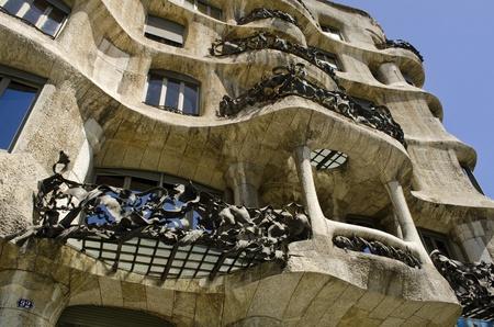 La Pedrera Casa Mila Built by Antoni Gaudi Barcelona Catalonia Spain