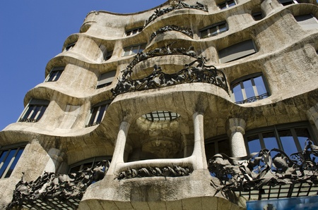 La Pedrera  Casa Mila  Built by Antoni Gaudi  Barcelona  Catalonia  Spain