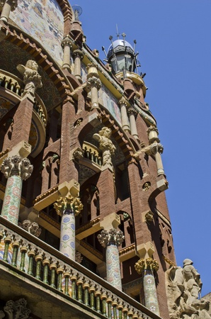 spanish culture: Palau de la Musica Catalana  Concert Hall  Built by Lluis Domenech i Montaner  Barcelona  Catalonia  Spain