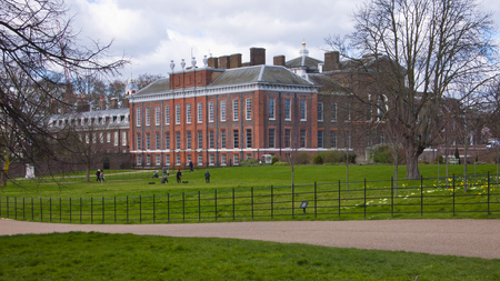 incidental people: London, United Kingdom - March 31, 2015: Kensington Palace and Gardens. Incidental people.