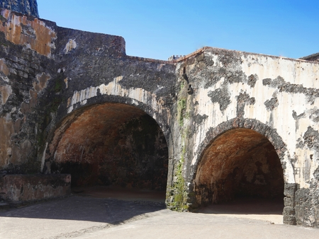 Some of the lower chambers at the El Morro Fort, Old San Juan, Puerto Rico