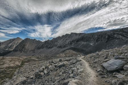 sierra nevada: Landscape in the Sierra Nevada mountains
