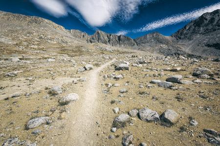 john muir trail: Mountain landscape in the Sierra Nevada mountains, California