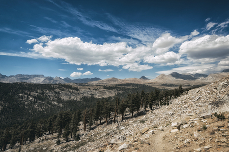 sierra nevada: Mountain landscape in the Sierra Nevada mountains, California