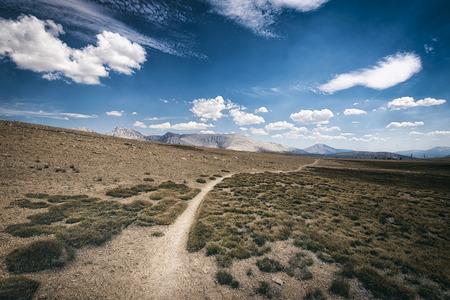 high sierra: Mountain landscape in the Sierra Nevada mountains, California