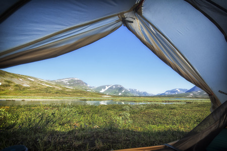 view to outside: Landscape in Lapland, northern Sweden