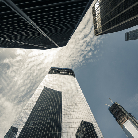 hectic: The One World Trade Center downtown in New York CIty