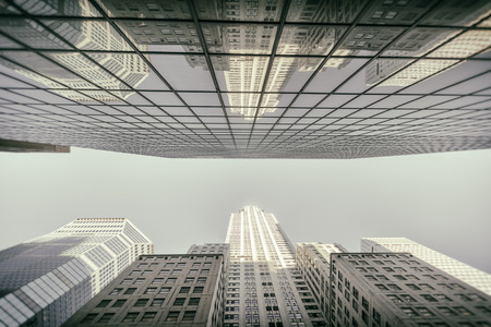 hectic: Photograph of a building in New York CIty Stock Photo