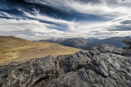 alpine tundra: Tundra and alpine landscape in the Rocky Mountains