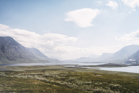 Tundra landscape in northern Lapland, Sweden Stock Photo