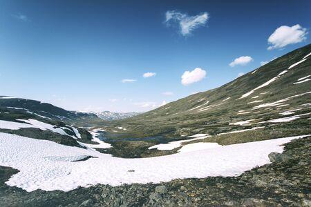 Tundra landscape in northern Lapland, Sweden