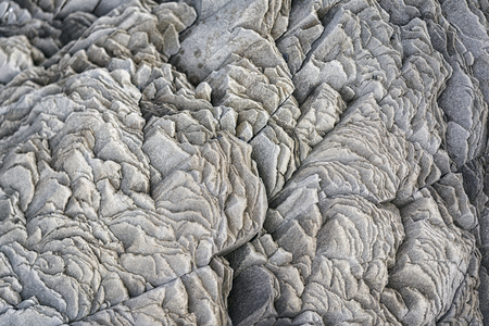 hardened: Detail photograph of hardened lava flow in southern Iceland