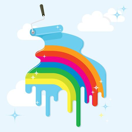 Paint a beautiful (rainbow) future life Stock Vector - 11968911