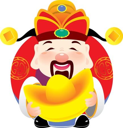 процветание: Китайские бога процветания дизайн проведении золота