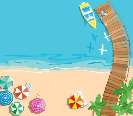 Summer vacation background Stock Vector - 14123079