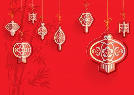 Chinese Lanterns illustratie