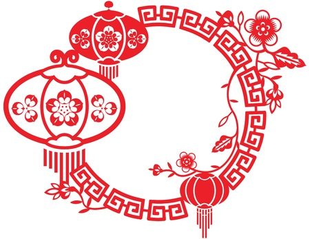 Chinese New Year and Mid Autumn Festival design pattern Vector