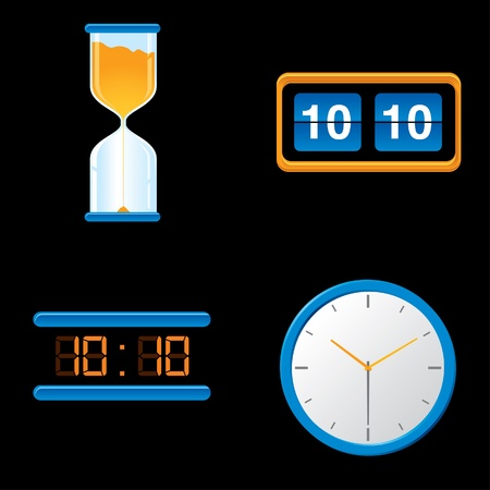 Different style clocks Vector