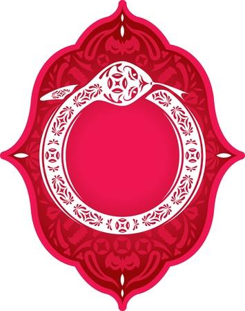 중국 새 해의 뱀 그래픽 요소