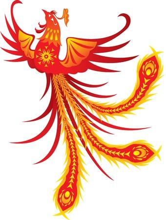Phoenix, Symbol of Renewal Vector Illustration