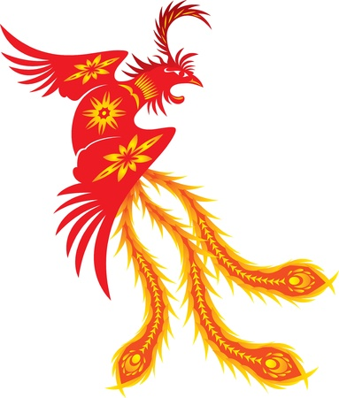 Phoenix, Symbol of Renewal Vector