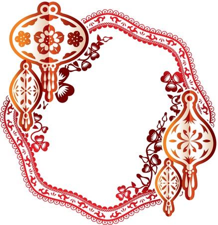 papierlaterne: Stra�enlaterne Laterne abstrakte Darstellung