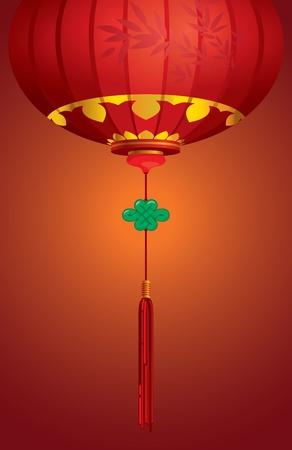 papierlaterne: Zeitgen�ssische chinesische Laterne Hintergrund Design mit Knot Jade