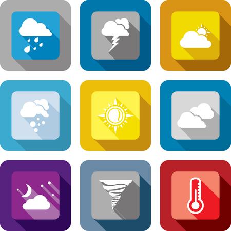 storm cloud: Weather icon design set
