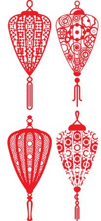 contemporary design: Contemporary lanterns design set Illustration