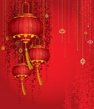 Lanternes rouges Banque d'images - 24569741