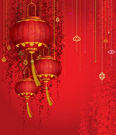 Red Lanterns Vector