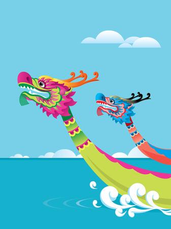 Concurrence de bateau dragon est une des cérémonies traditionnelles pour Tuen Ng Festival de Banque d'images - 27148479
