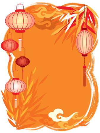 Chinese Festival abstract background, copy space  center area  for the designers to fill what they like