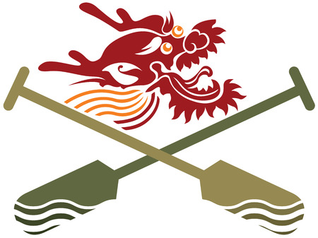 Dragon boat icon illustration Illustration