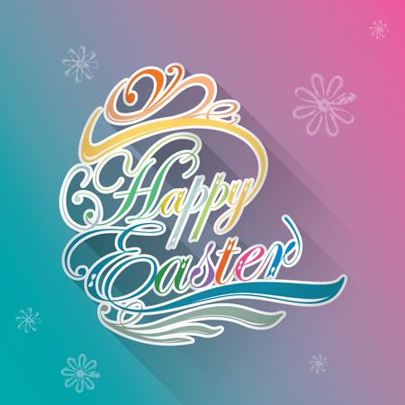 Buona Pasqua tipografica sfondo illustrazione Vettoriali
