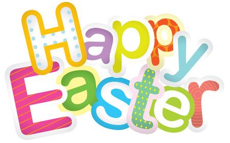 Feliz Pascua ilustración diseño tipográfico Foto de archivo - 35533192